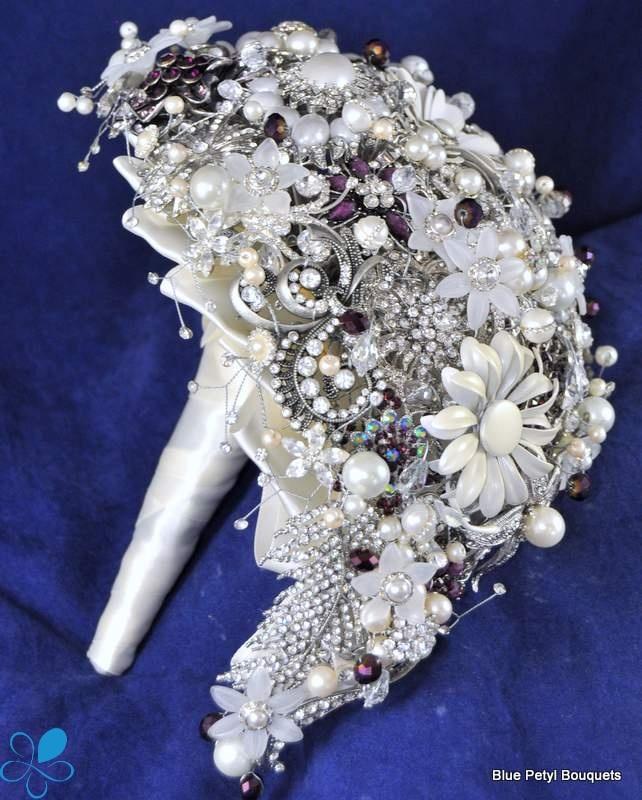 tear drop brooch bouquet