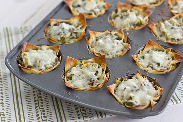 recipe | mini vegetable lasagnas (made in muffin tins!) love it!