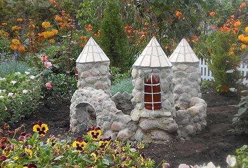 Как сделать замок из камней для сада