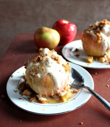 Baked Apple Ice Cream Bowls | Food | Pinterest