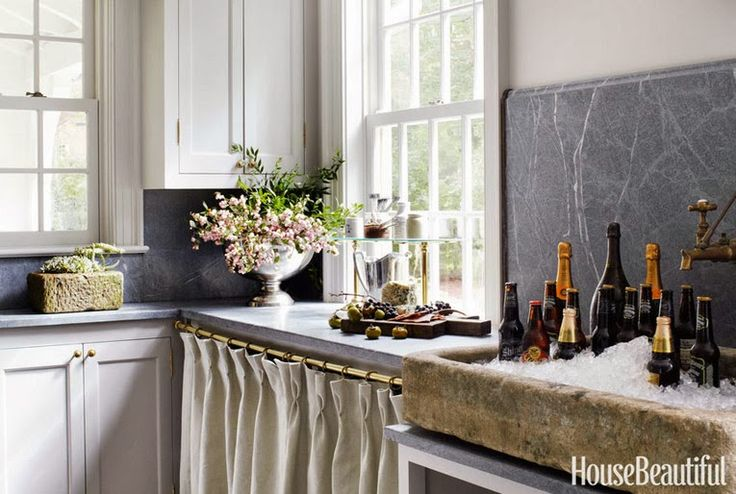 Skirted Sink Kitchen : Things We Love: Skirted Sinks Amazing Kitchens and Pantries Pint ...
