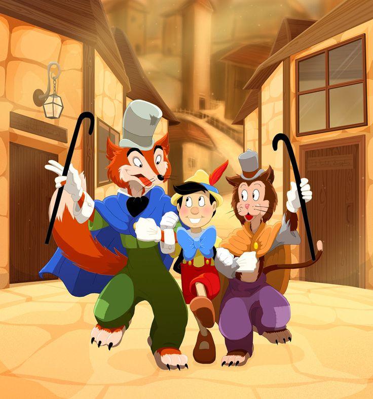 Pinocchio  Gideon  Honest JohnHonest John And Gideon