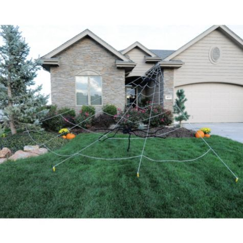 Giant Spider Web Yard Decoration 25ft....I might have some fun with ...