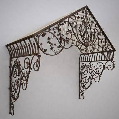 Marquise en fer forg design fer forg pinterest - Marquise en fer forge ...