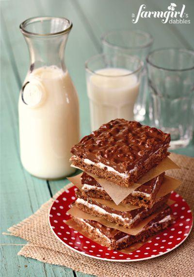Marshmellow crispy bars