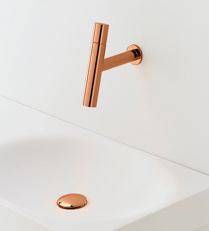 Copper wall-mounted mixer METRO 2 by Lavernia & Cienfuegos for SANICO. #copper #cuivre #cobre
