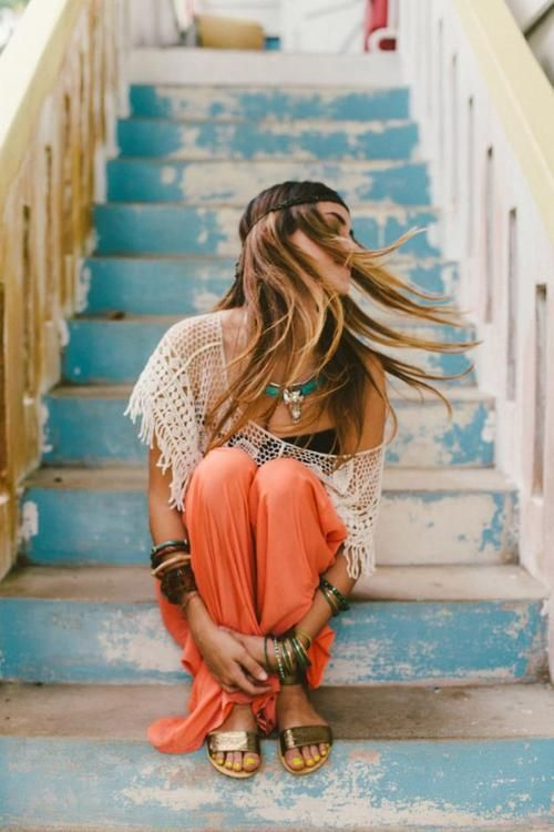 boho chic fashion, hippie stijl