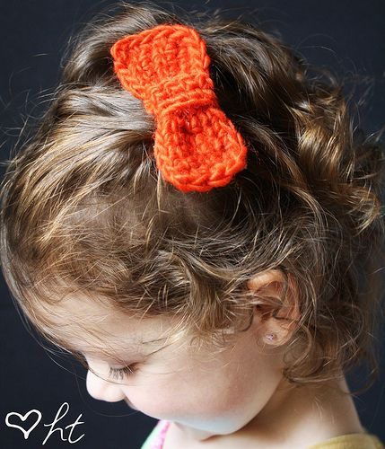 Crochet Hair Bows : Crocheted Hair Bows DIY Hair Accessories Pinterest