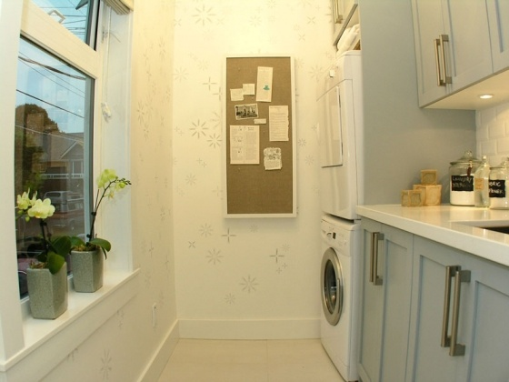 laundry room with clothespin wallpaper homey pinterest