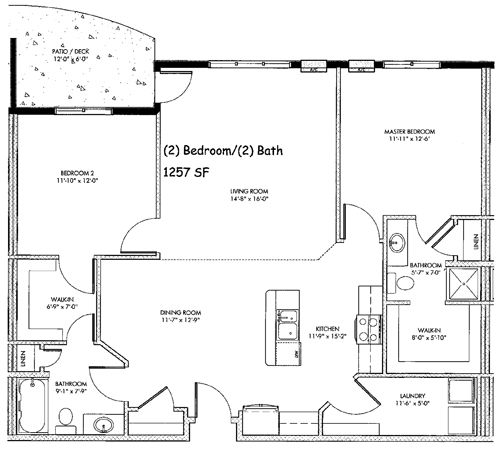 bedroom house plans free sq ft 1 year lease 2 bedroom 2 bath plan ...