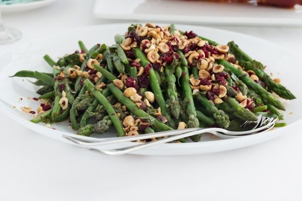 com au asparagus and green beans dressed with hazelnut and cranberry ...