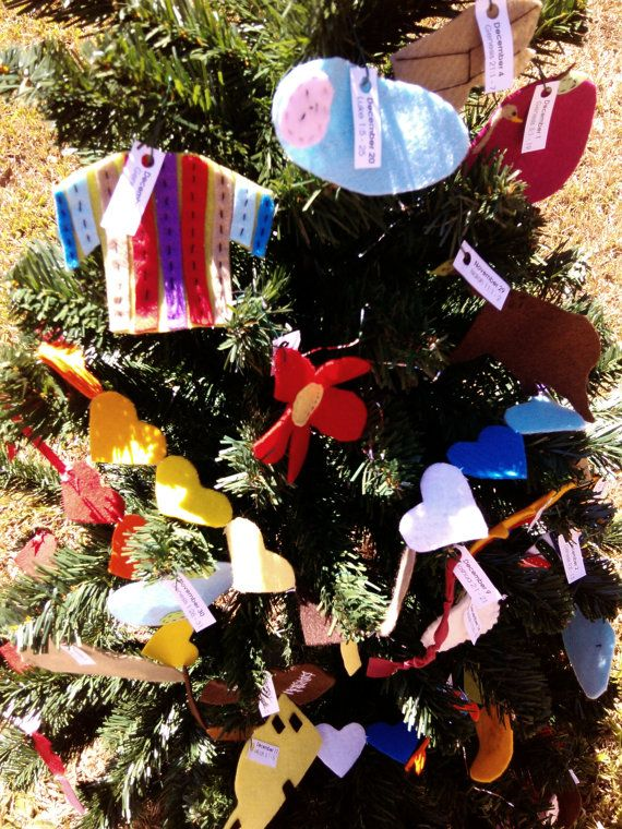 Jesse Tree - Christmas - Advent - 2 Sets of felt Jesse Tree Ornaments