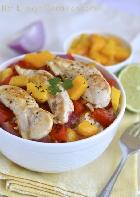 Bell Pepper, Mango and Red Onion Chicken Tenders