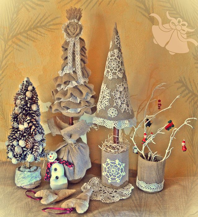 Декоративные новогодние игрушки своими руками