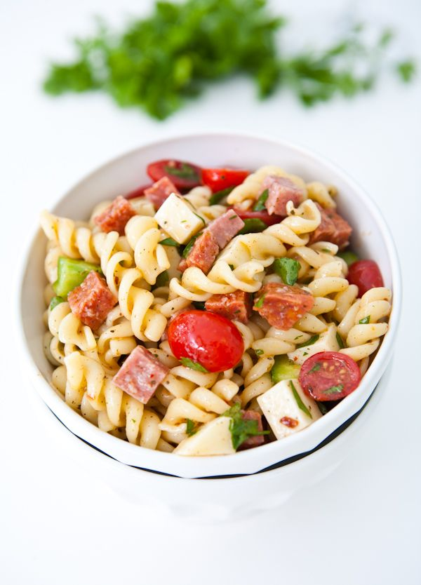 Italian Pasta Salad {Giveaway} by EclecticRecipes.com #recipe