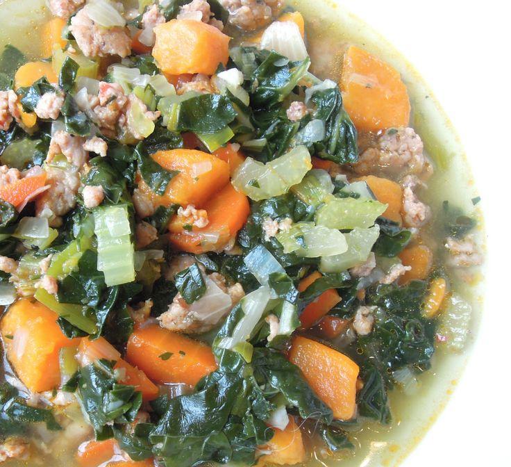 Sausage Sweet Potato Soup | Eat: Soups | Pinterest