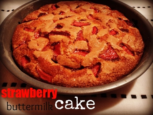 Strawberry Buttermilk Cake | Dessert Recipes I want to try | Pinterest