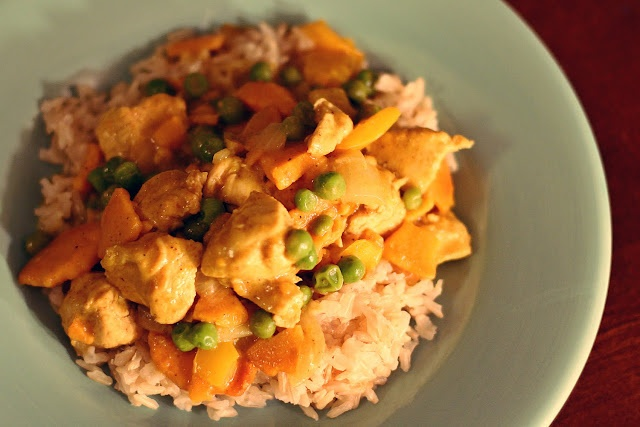 Sweet Potato & Chicken Curry [in a hurry] (meaning that it is very ...