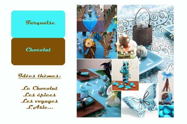 ... mariage chocolat et turquoise  Inspiration Chocolat  Pin