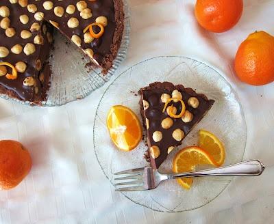 Dark Chocolate Orange Hazelnut Tart | Food | Pinterest