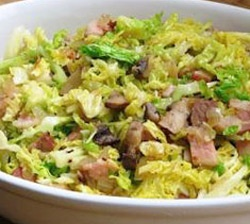Stir-Fried Cabbage with Crispy Bacon and Mushrooms - #Bacon and ...
