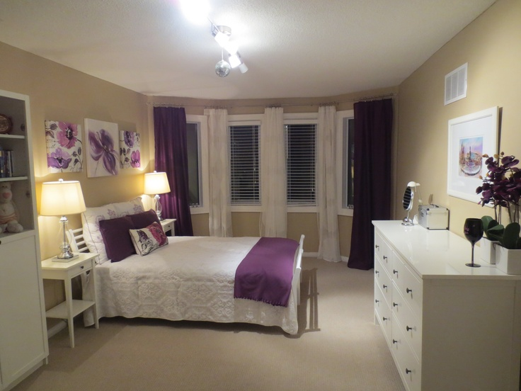 White Purple Beige Bedroom Ideas For The Home