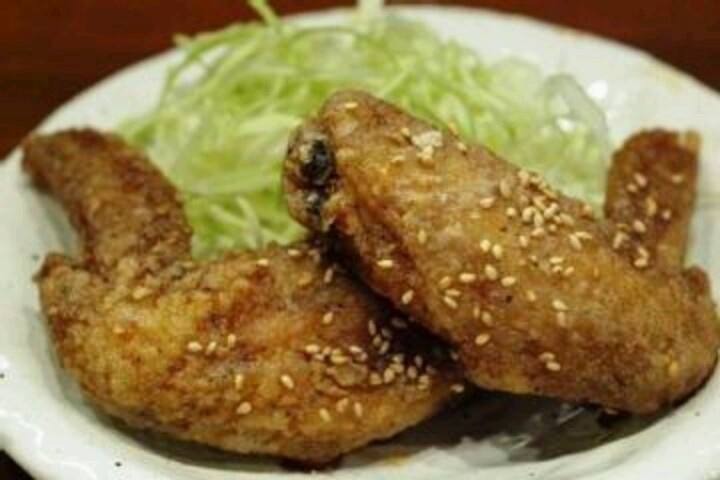 Japanese style deep fried chicken wings | Goode wings | Pinterest