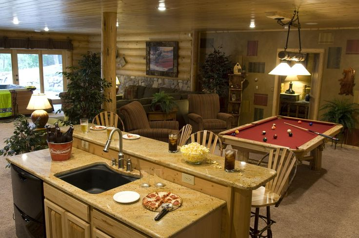 Rustic basement finished for the home pinterest for Rustic finished basement