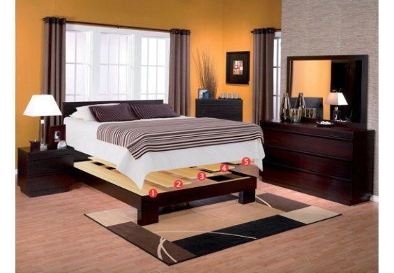 Corliving Queen Queen Beds Queen Size Wooden Platform Size Platform