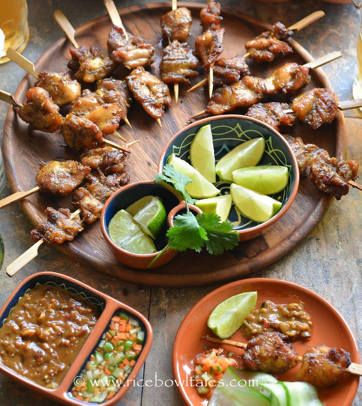 ... Satay Chicken with Spicy Peanut and Sweet and Sour Dipping Sauce