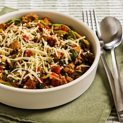 "... Julienned Zucchini ""Spaghetti"" with Quick Sausage, Tomato, and ..."