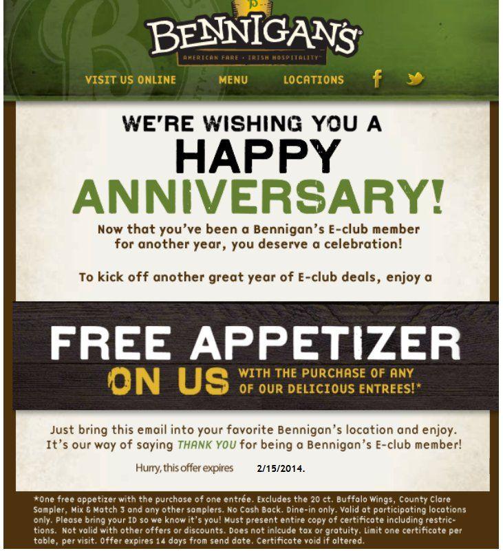 Bennigans coupons