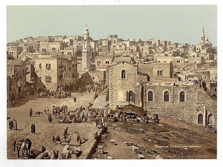Bethlehem market 1900 israel pinterest