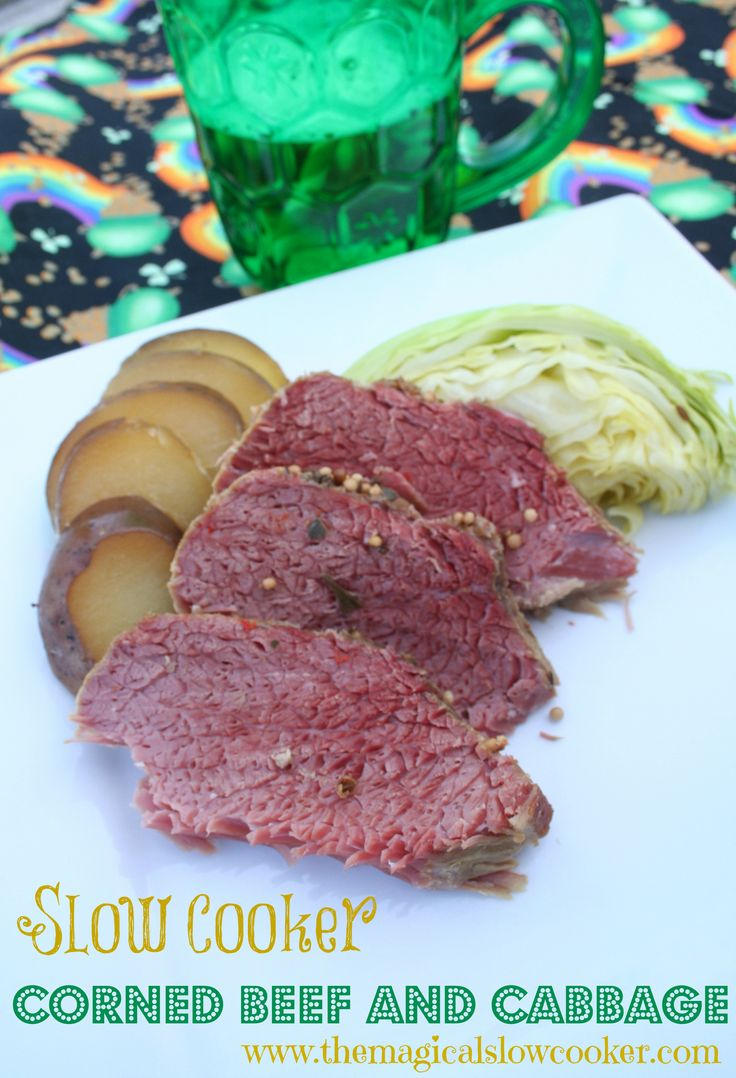 St. Patricks Day Corned Beef and Cabbage in the slow cooker! Potatoes ...