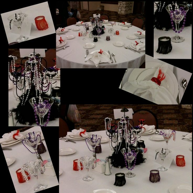 1920 39 s party table harlem night theme party pinterest for 1920 party decoration ideas