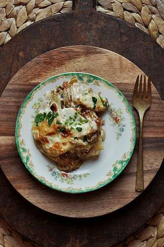 Potato and Caramelized Onion Gratin | The Candid Appetite