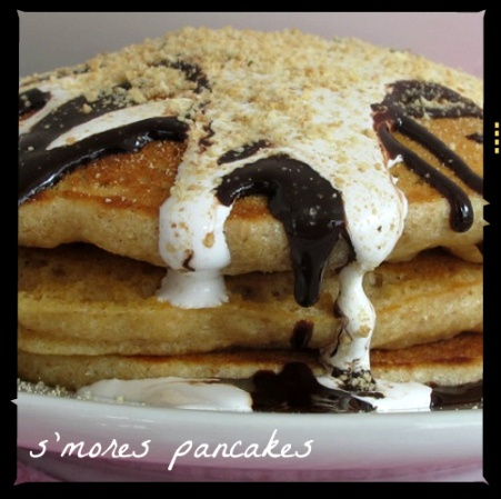 Decadent and gooey, S'Mores Pancakes! | Breakfast & Brunch Goodies ...