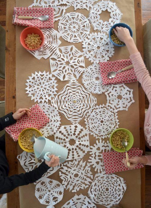 Cute DIY Table Runner: Winter Table Runners #diy wedding