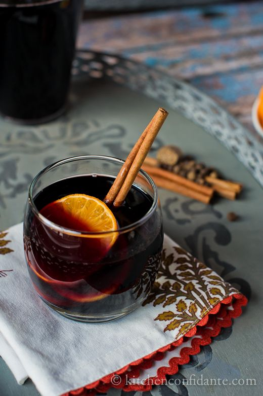 Mulled Wine (a few changes from the recipe): Bottle of red, 2 cups ...