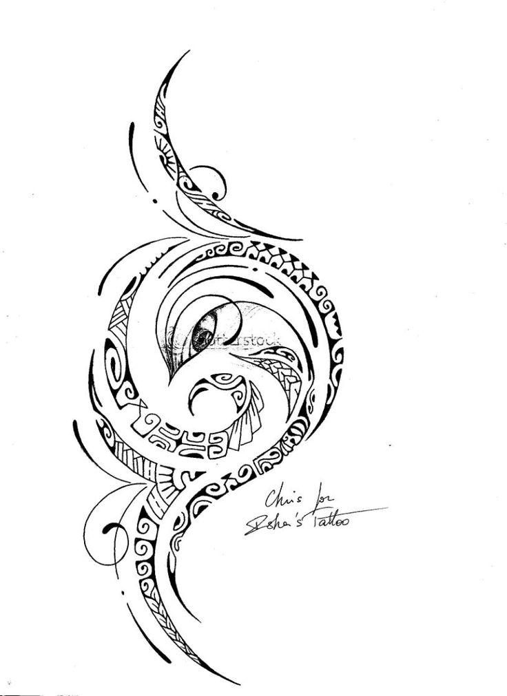 Polynesian Tribal Tattoo Drawings