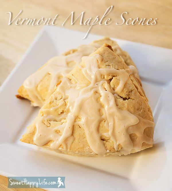 Maple Scones, A Taste of Vermont | Family Recipes | Sweet Happy Life