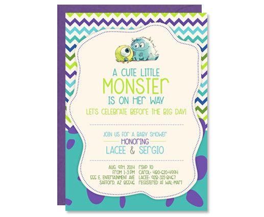 monster 39 s inc baby shower invitations baby prater pinterest