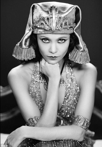 Thandie as Theda Bara (silent movie star)for a Virgin Short project.
