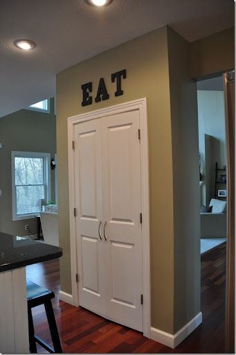 another pantry door idea home ideas kitchen pinterest