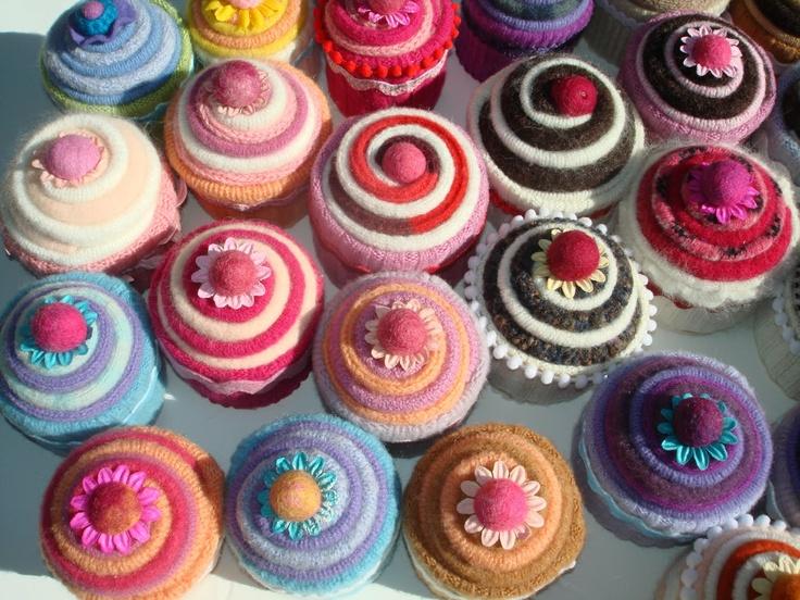 Swirly cupcakes...so pretty. | Knitting | Pinterest
