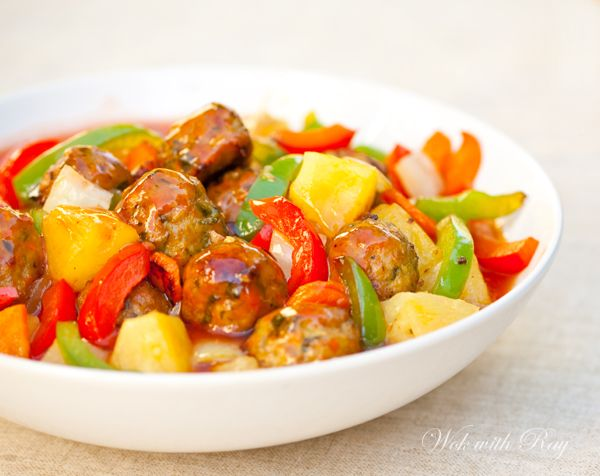 Sweet and Sour Meatballs (Bola-Bola Filipino Style) | wokwithray.net ...