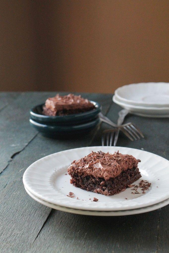Chocolate Mousse Brownies   www,diethood.com   #chocolate #brownies