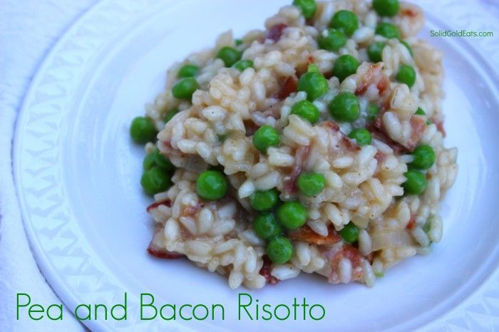 Pea and Bacon Risotto | Make | Pinterest