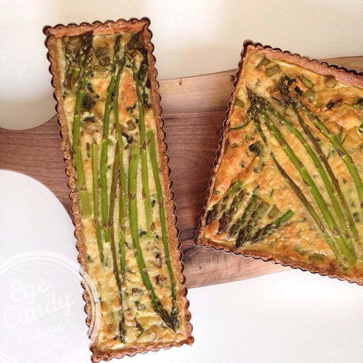 Meatless Monday: Asparagus and spinach quiche with spelt crust (dairy ...