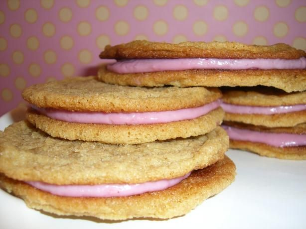 Raspberry Cream Sandwich Cookies   Recipe